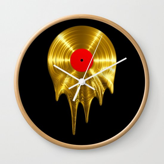 Melting vinyl GOLD / 3D render of gold vinyl record melting by grandeduc