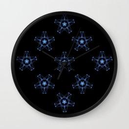 Blue Silk Wall Clock