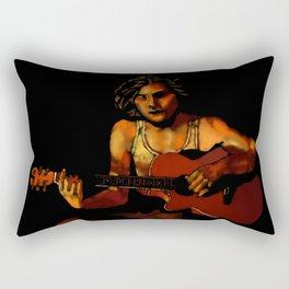 Firelight Vigil Rectangular Pillow