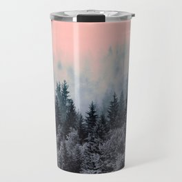 Forest in gray and pink Travel Mug