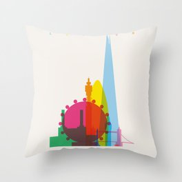 Shapes of London. Accurate to scale Throw Pillow