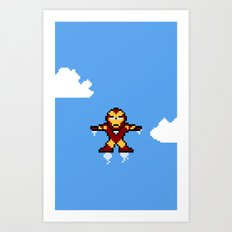 Iron Pixel Art Print
