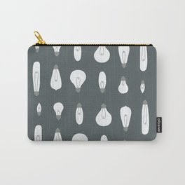 Lightbulb moment on grey Carry-All Pouch