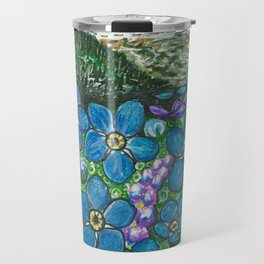 Mountains and Forget-Me-Nots Travel Mug
