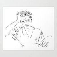 leonardo dicaprio Art Prints featuring Leonardo DiCaprio by Caron Lee