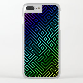 colorful labyrinth Clear iPhone Case