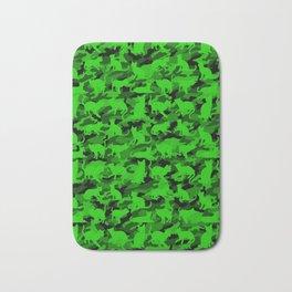 Bright Neon Green Catmouflage Bath Mat