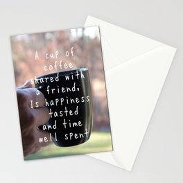 Coffee Friendship Stationery Cards