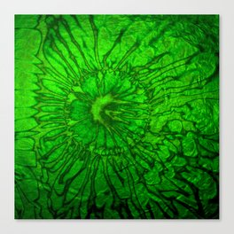 ABSTRACT WATERCOLORED GREEN Canvas Print