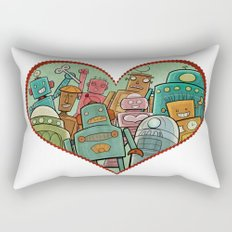 Robot Love Rectangular Pillow