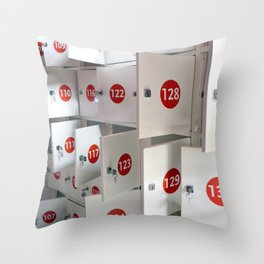 Lockers Throw Pillow