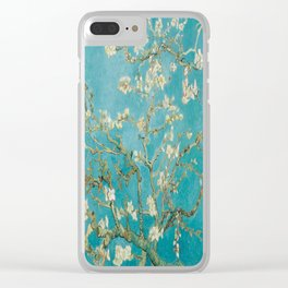 Vincent Van Gogh's Branches of an Almond Tree in Blossom Clear iPhone Case