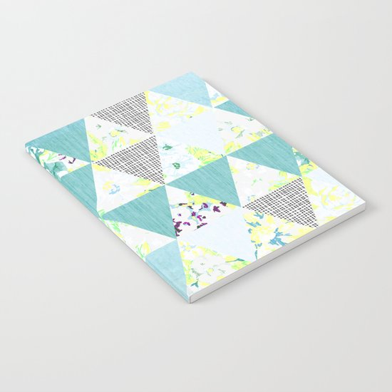 PASTEL NEON GEO FLORALS IN MINT Notebook