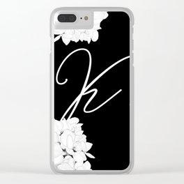 "Letter ""K"" Monogram Clear iPhone Case"