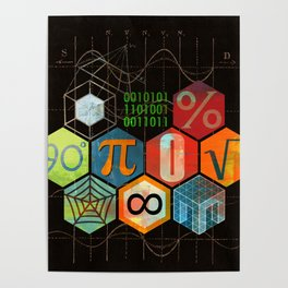 Math Game in black Poster