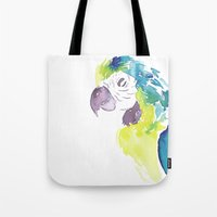 greg guillemin Tote Bags featuring Greg  by Tatiana Shaffer