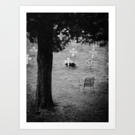 The grave of Thomas Merton Art Print