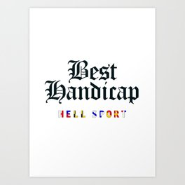 Best Handicap + Navy Art Print