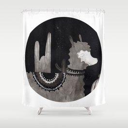 Paca, la Alpaca Shower Curtain