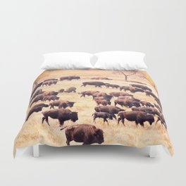 Buffalo Roundup at Custer State Park Duvet Cover
