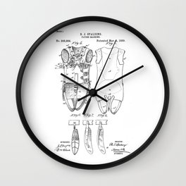 patent art Spalding Flying Machine  1889 Wall Clock