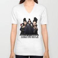 regina mills V-neck T-shirts featuring TRUST NO BITCH - Regina by j0seph