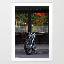 Parked Motorcycle Art Print