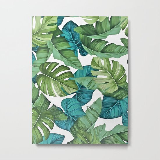 Tropical leaves II Metal Print