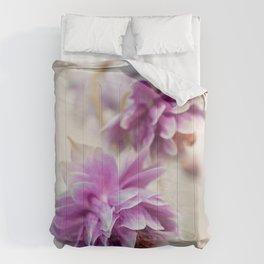 Violet columbines Comforters