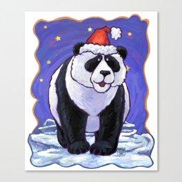 Panda Bear Christmas Canvas Print