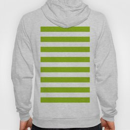 Spring Fresh Apple Green & White Stripes - Mix & Match with Simplicity of Life Hoody