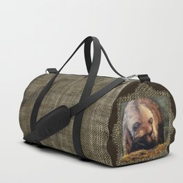 Grizzly Bear Makes Eye Contact Duffle Bag