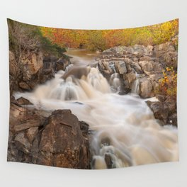 Great Falls Autumn Cascades Wall Tapestry