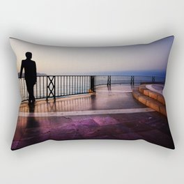 Balcon de Europa silhouette Rectangular Pillow