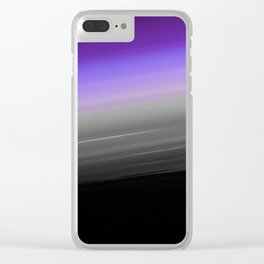 Purple Gray Black Smooth Ombre Clear iPhone Case