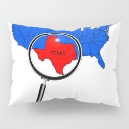 Texas Map Pillow Sham
