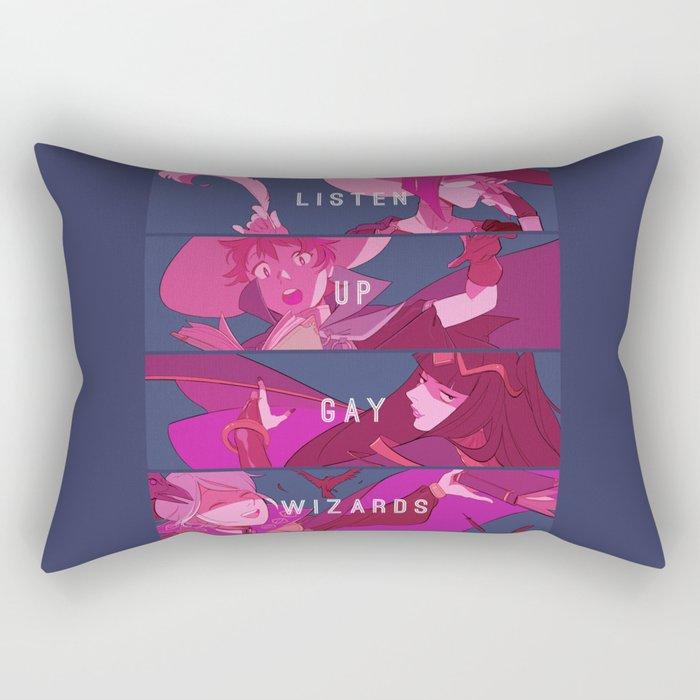 Listen Up Gay Wizards Rectangular Pillow