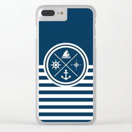 Sailing symbols Clear iPhone Case