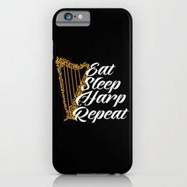 eat sleep harp repeat iPhone Case