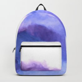 Purple Sky, White Light - abstract Backpack