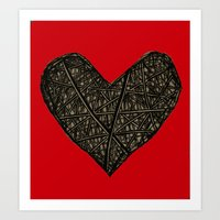 wired heart Art Print
