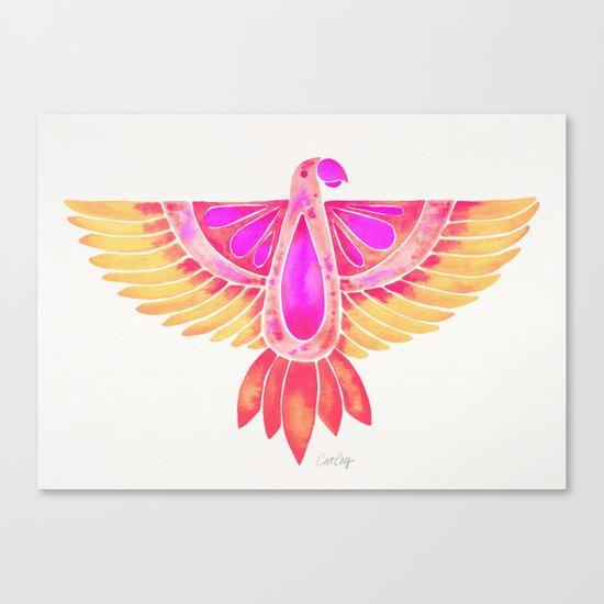 Parrot – Melon Ombré Canvas Print