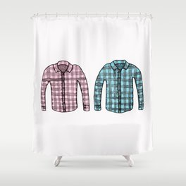 Flannel shirts Shower Curtain