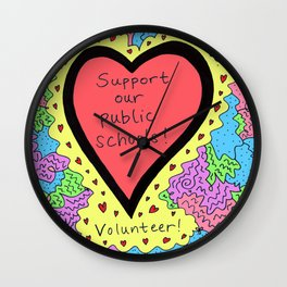 Support Our Public Schools Wall Clock