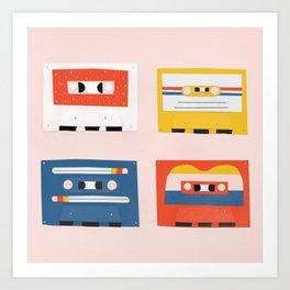 four tapes Art Print