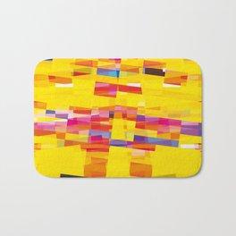 yellow pixel storm Bath Mat