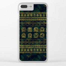 Maya Calendar Glyphs pattern Clear iPhone Case