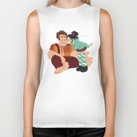 wreck it ralph Biker Tanks featuring Ralph & Vanellope by Violet's Corner