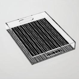 Wide Black Stripe Acrylic Tray