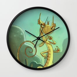 Goblins Drool, Fairies Rule! - Salamander Snoop Wall Clock